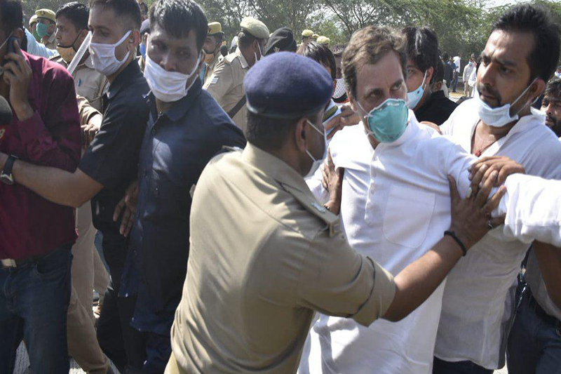 Rahul Ghandi arrested by Uttar Pradesh Police
